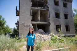 2014年6月、砲撃によって破壊される前は24世帯が暮らしていた。住人が1人亡くなり、その他の住人も引越しを余儀なくされた。