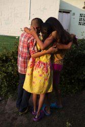 2年前にホンジュラスでギャングに母親を殺され、メキシコへ逃れてきた兄妹。(2019年1月撮影)