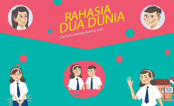 インドネシア語で書かれた、月経衛生管理に関するストーリー教材