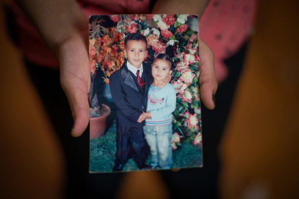 お兄ちゃんと一緒の写真