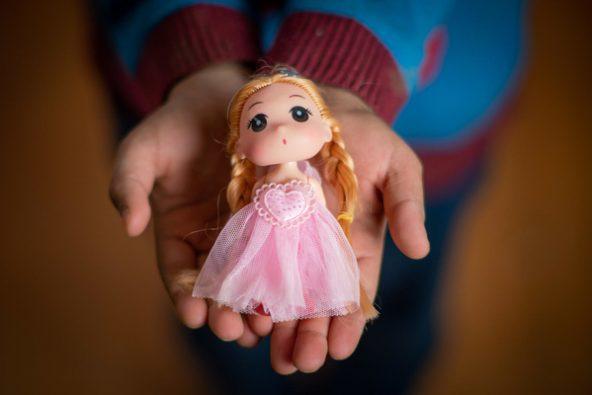 誕生日プレゼントのお人形