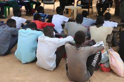 武装グループから解放された15人の子どもの兵士。(2020年2月26日撮影)