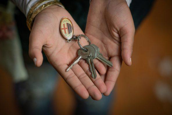 シリアの自宅の鍵