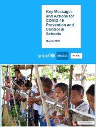 新型コロナウイルス(Covid-19)の感染から子どもと学校を守るための新しい行動指針(英文)