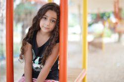 8歳のハナン。(2020年9月1日撮影)