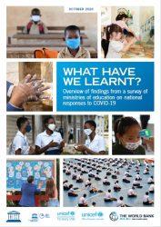 報告書「私たちは何を学んだの?:各国のCOVID-19対応に関する教育省の調査結果概要(原題:What Have We Learnt?:Overview of Findings from a Suvey of Ministries of Education on National Responses to COVID-19)」