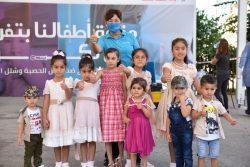 レバノン保健省はユニセフと協力し、はしかとポリオの2回目の予防接種キャンペーンを2020年末まで行うことを発表した。(2020年10月14日撮影)