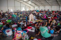 米国と国境を接するバハ・カリフォルニア州ティファナ市にある避難所の様子。(メキシコ、2018年11月撮影) ※本文との直接の関係はありません