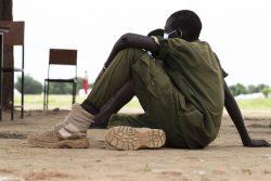 武装グループから解放されるのを待つ子どもたち。(2020年5月撮影)