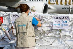 COVAXより供給され、空港に到着したCOVID-19ワクチン。(アフガニスタン、2021年3月8日撮影)