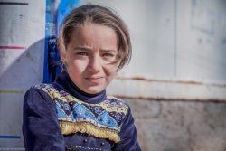 国内避難民キャンプに滞在するイラクの女の子。(2021年1月撮影) ※本文との直接の関係はありません