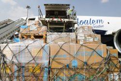 カブールに到着したユニセフの命を守る医療物資。(2021年9月29日撮影)
