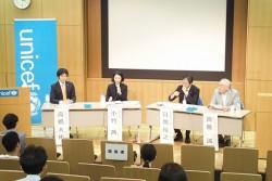 日本企業は子どもの人権への取り組みをより発信していくことで、コーポレートブランドの向上につなげていける、と話す登壇者たち。終始活気のある議論が行われました。