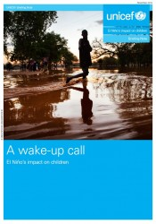 『A wake-up call: El Niño's impact on children (警鐘:エルニーニョ現象が及ぼす子どもたちへの影響) 』