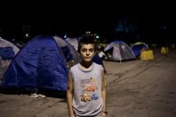 シリア難民のムスタファくん。