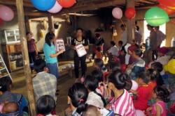 子どもの食事とケアのクラブにおける学習セッション。