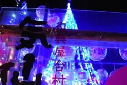 復興屋台村気仙沼横丁の営業は、来年10月まで。今年が最後の「祈りのツリー」になってしまいました。