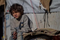 イラクの男の子。
