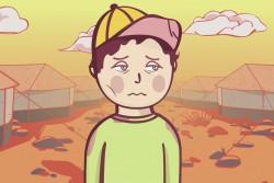 「難民の少年、ムスタファ」