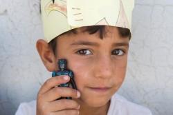 デバガ避難民キャンプで暮らすアミルくん(6歳)
