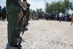 南スーダンで武装グループからの解放を待つ子どもたち。(2016年10月26日撮影)