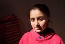 シリア難民のシャムちゃん(10歳)