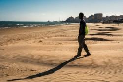 リビアを経由し、ガンビアからイタリアに逃れてきた男の子(2016年5月撮影)