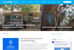 イノベーション部門のウェブサイト。各国での取り組みや事例のほか、求人も掲載されている。
