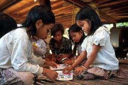 カンボジアの子どもたち。