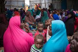 干ばつにより避難を強いられる人たち(ソマリア・モガディシュ)2017年4月9日撮影