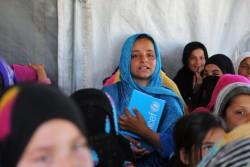 ユニセフが支援する学校に通う、帰還民のザイナブちゃん(10歳・アフガニスタンの東部ラグマーン州で)
