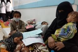 病院での子どもたちの様子(イエメン)