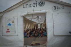 国内避難民の子どもたちのための学校(2017年4月18日撮影)