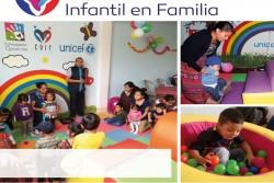 コミュニティー乳幼児センターに通うお母さんと子どもたち。