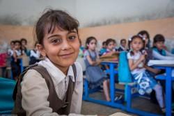 ユニセフの支援を受ける学校に通う子どもたち(2017年6月12日撮影)