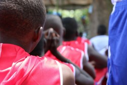 Children associated with the anti-Balaka militia take part in a release ceremony in in Bambari in the Central African Republic. On 14 May 2015 in Central African Republic, more than 300 children, including several under 12 years old, have been released from armed groups in Bambari following a UNICEF-facilitated agreement by the groups' leaders to free all children in their ranks.  Three separate ceremonies were held near the town of Bambari during which 357 children were released by anti-Balaka militias and the ex-Seleka armed group. The agreement by the leaders of CAR's 10 armed groups to release children in their ranks was signed during a reconciliation forum held in the capital Bangui last week as the result of a collaboration between UNICEF, the United Nations Multidimensional Integrated Stabilization Mission in the Central African Republic (MINUSCA) and the Government of the Central African Republic. UNICEF and partners have begun efforts to provide psychosocial support and to reunify the children with their families, and will be supporting their reintegration into their communities. The children received medical screenings and had the opportunity to speak with trained social workers. When security conditions permit, children with relatives in the area will be reunited with their families while others will be placed with foster-caregivers until their families can be traced. UNICEF estimates that between 6,000 and 10,000 children are currently connected with the country's armed factions. This figure includes children serving as combatants, others who are being used for sexual purposes, and those working as cooks, messengers and in other roles. The agreement also commits the groups to ending additional recruitment of children and gives UNICEF and its partners immediate and unrestricted access to the areas under the groups' control in order to identify and verify the number of affected children and to secure their release.