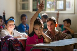 On 20 October 2016, Hussein, 7, is Lebanese and lives in the Bekaa valley where he attends the double shifted Maalaka public boys school, which is supported by UNICEF through the EU Regional Trust Fund in Response to the Syrian Crisis. Hussein attends the first shift of what has now become a double shifted school to make room for hundreds of children who have fled conflict in Syria. Since the outbreak of the war over five years ago, more than half the students in the school are Syrian refugee children. In part through the support of the EU Regional Trust Fund, thousands of Syrian children, many who have been out of school for months if not years, have been able to return to learning to ensure that there is No Lost Generation.