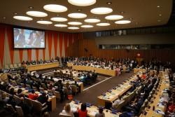 2017年9月20日に開催された、国連ハイレベル会合の様子。