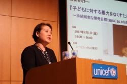 子どもの権利委員会委員を務める弁護士の大谷美紀子(おおたにみきこ)氏。