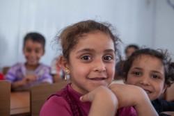 ユニセフの支援する学校に通う子どもたち。(アレッポ東部)2017年5月撮影