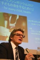 UNICEF本部事業局保健セクション上席アドバイザーのデイビッド・ヒップグレイブ