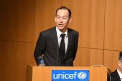 「世界子供白書2017」発表会に登壇された、ソフトバンクCSR企画部部長 齊藤剛さん