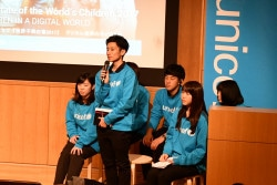 「世界子供白書2017」ワークショップの実施に携わった兵庫県立大学の学生たち。