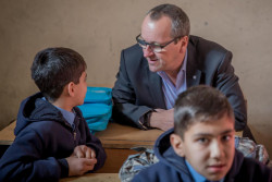 Months after the fighting in Mosul has subsided, the city needs substantial investment and work to recover; its citizens remain in critical need of assistance.  UNICEF Regional Director for the Middle East and North Africa Geert Cappalaere visited Mosul this week, gaining a first hand account of the issues facing Mosul's children. He spoke with children at Al-Sanadeed school for girls in East Mosul, and Al-Huda school in West Mosul, where UNICEF had carried out rehabilitation works. He also visited UNICEF activities at Al-Khansa Hospital. Children in Mosul need continued support to return to and stay in school. They remain at severe risk from unexploded ordinance, poverty, child labor; early marriage and the negative impact of conflict on children's mental health. Physical health care, particularly for newborns and infants, remains precarious in many parts of the city. UNICEF is working with the Government of Iraq and an array of local and international partners to address these needs. To date, UNICEF has helped in the basic rehabilitation of one third of the 638 schools that have reopened in Mosul. More than half a million children—almost half of them girls—have been able to return to school. UNICEF has also undertaken an array of activities to bring clean water to citizens in east and west Mosul; restart and regularize an immunization program for polio and measles; raise awareness about a variety of child protection issues; provide psychosocial support to children affected by the conflict; and make sure teachers and students are able to return to the classroom.