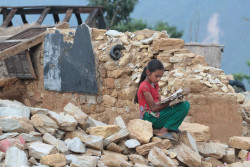 On 29 May 2015, Gorkha, one of the severely earthquake-affected districts in Nepal. Four teachers died in the school, where a School Improvement Programme training was underway on 25 April.  Nepal Earthquake - Back to School Package - Photos from Muchowk, Gorkha