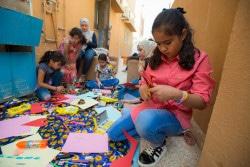 マカニ学習センターでの子どもたち。(2016年10月撮影)