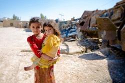 アフガニスタン南部の子どもたち。(2018年3月14日撮影)