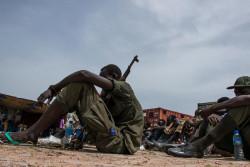 南スーダンで、武装勢力から解放された子どもたち。(2018年5月17日撮影)