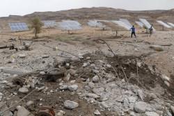 攻撃を受けた大規模給水施設(イエメン北西部サアダ県)