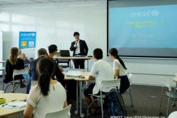 「SDGsを達成するためには創造性に富む若者の力が必要」と語る、外務省の甲木浩太郎・地球規模課題総括課長。